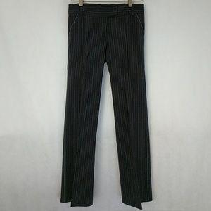 Laundry blue pinstripe black trousers sz 0